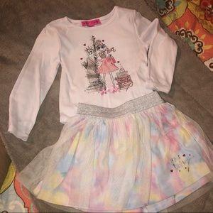 GUC Betsey Johnson 4T skirt & top set
